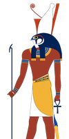 Horus standing Colors by Writer-Colorer