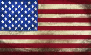Old and Worn: American flag by tattoartist9