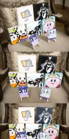 Painting Presents: Pusheen, Mother3, TF2, MLP FIM by MilkyBoutique