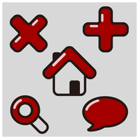 Red Simple Icons by customicondesign