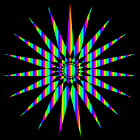 19-9 star rainbow gradient by 10binary