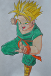 Trunks Super Saiyan by M-art-ique
