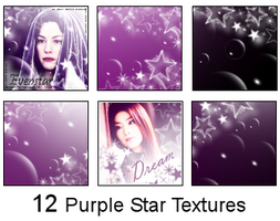 12 Purple Star Textures by brithla