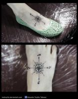 compass rose tattoo by redtrujillo