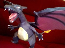 Black Charizard Papercraft by Elycian