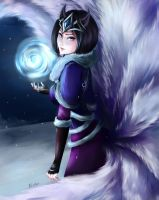 midnight ahri by Nindei
