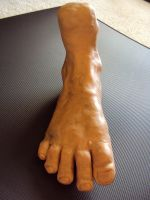 Foot Sculpture by melissrrr