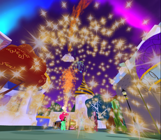Second Life Wonderbolts New Years Eve Show pic 1 by XxFlamerunnerxX