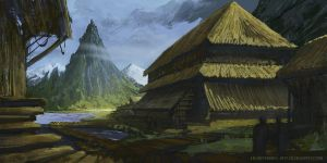 Landscape Sketch 01-28-13 by Long-Pham