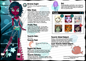Monster High OC:Ocianna Angler by ChamomileCatastrophe