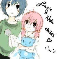 Fairy Tail- Nalu , Gruvia childrens c: by keyoftheglass