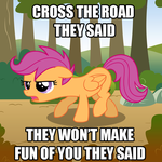 Cross the Road They Said by SketchyJackie