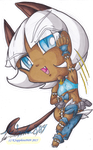 Ms. Fortune Chibi  by KSapphire8989