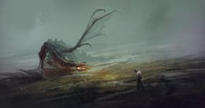 Swamp monster by QuintusCassius