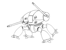 Seige Mech sketch by Angryspacecrab