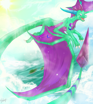 Under the Sky, over the Ocean by Art-by-Ling