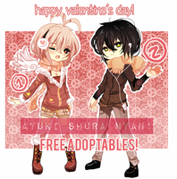 VALENTINE'S DAYS ADOPTABLES GIVEAWAY  CLOSED by Ayuki-Shura-Nyan