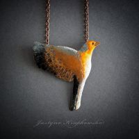 Chaffinch (03) necklace by szaranagayama