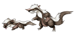 Badgers by FakeMakeT