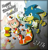 .:HB Sonic 21Th:. by Blacky-Doll
