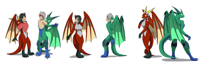 Comission: Dragoness suits TF TG by Avianine