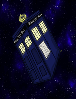 TARDIS in space by Fgpinky123