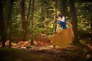 Snow White dancing in the woods by AluotaCosplay