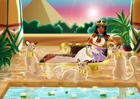 Cleopatra's Pokemons by bloona