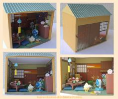 Papercraft japanese house by KarenKaren
