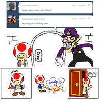 Tell Toad - Waluigi Time by pocket-arsenal