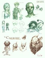 The Curator Sketch Dump by RedPaints
