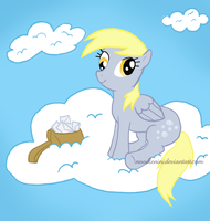 Derpy Chillin on a Cloud by noodlenini
