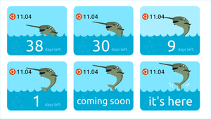 Ubuntu Natty Countdown Banner by rikulu
