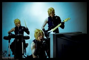 Cloud's rock band by final-testament