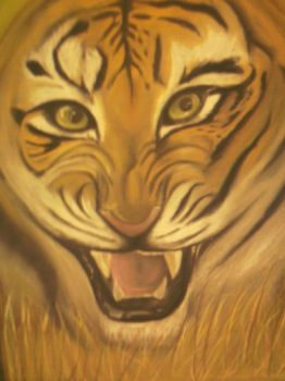 Roaring Tiger by AmzyBabes
