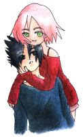 Sasusaku :: Hugged by Karmillina