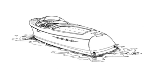 Riva Aquarama sketch by tuskarsart