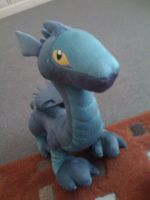 Amaya The Dark Dragon Plushie by draizor007
