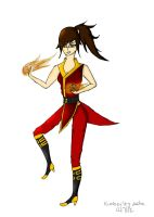me as a fire bender by kimmyragefire