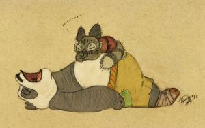 Kung Fu lessons: Panda style by PsychoAngel51402