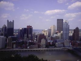 Pittsburgh Skyline 1 by WoodenOx