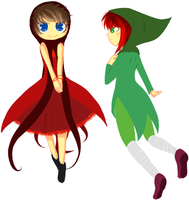 Sylph of Time and Maid of Mind by insanityNothing