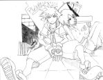 Kingdom Hearts Sora Sketch by PhlamingPhoenix