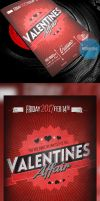 Retro Valentine's Day Flyer PSD by ImperialFlyers