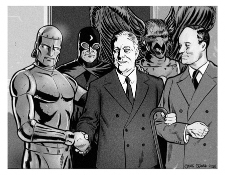 Golden Age Heroes by craigcermak