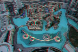 Dubai dancing fountains in 3D by amirajuli