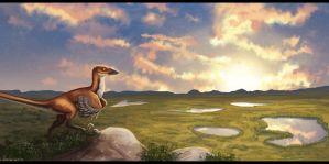 Dawn of the Early Cretaceous by Denece-the-sylcoe
