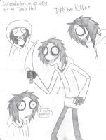 Jeff the Killer Doodles by Surrealatorium