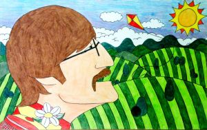 John Lennon Cartoon by DFJones93