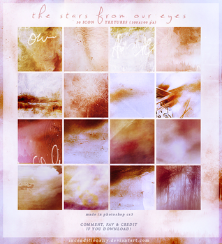 the stars from our eyes: icon textures set by inconditionally